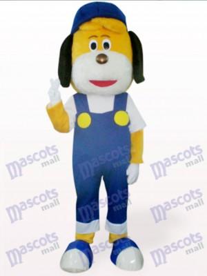 Déguisement de chien bleu en chapeau de mascotte