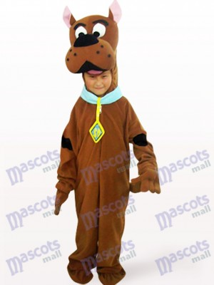 Costume de mascotte d'animal de Brown Dog Open Face Kids
