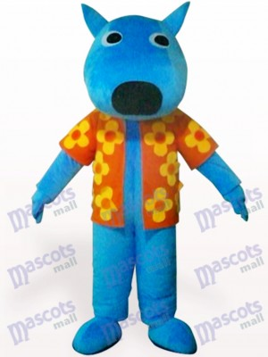 Costume de mascotte adulte animal mâle bleu chien
