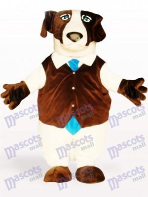 Costume de mascotte adulte chien brun animal