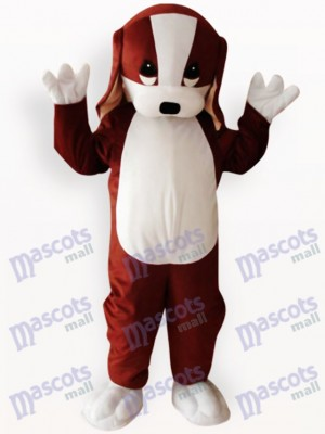 Costume de mascotte adulte animal marron et blanc chien