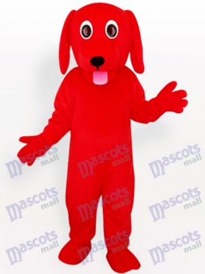 Costume de mascotte adulte animal rouge chien