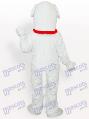 Costume de mascotte adulte chien blanc animal