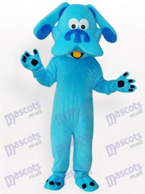 Costume drôle de mascotte adulte bleu chien animal
