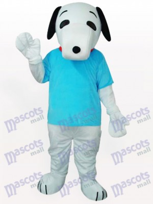 Snoopy Dog In Blue T-shirt costume de mascotte adulte