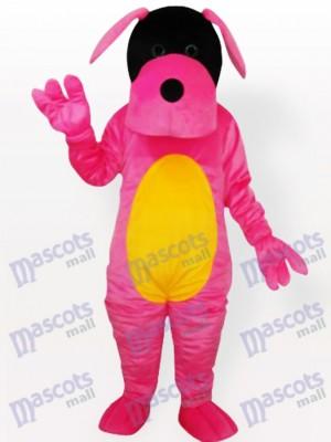 Costume de mascotte adulte chien rose