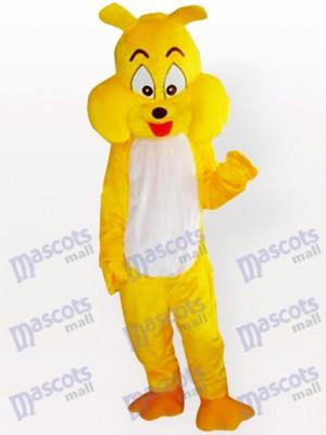 Costume de mascotte adulte jaune chien