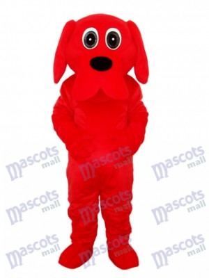 Costume de mascotte de chien rouge Rooney Red Black Nez
