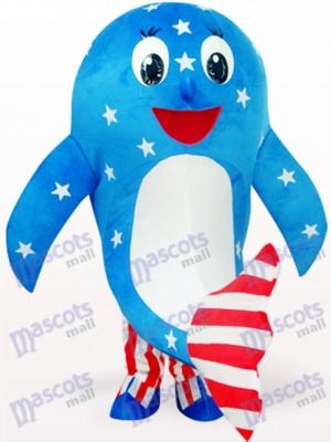 Déguisement de mascotte adulte Dolphin Ocean Blue American