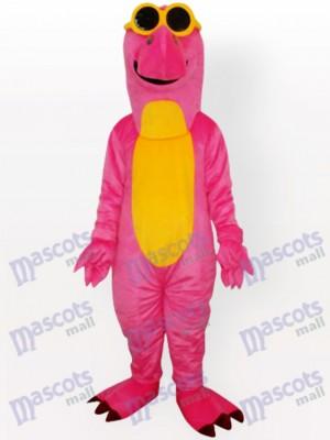 Costume de mascotte adulte avec dragon jaune et ventre jaune