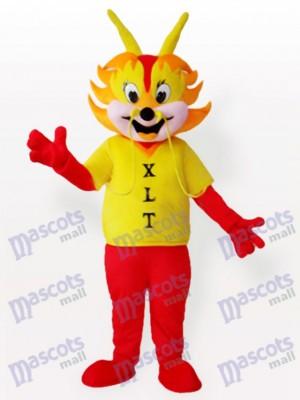 Costume de mascotte adulte homme dragon jaune