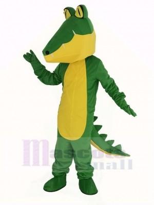 Crocodile avec Jaune Ventre Mascotte Costume