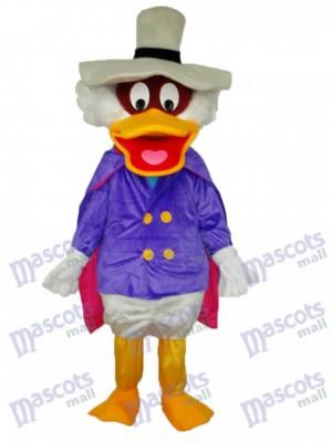 Costume adulte de mascotte de chapeau blanc de canard Animal