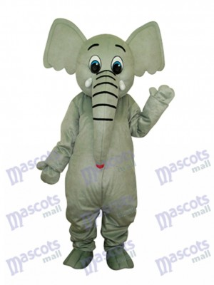 Déguisement de mascotte d'éléphant petit gris Animal