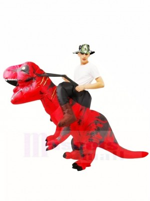 Tyrannosaure rouge T-Rex Gonflable Porte moi Ride On Costume