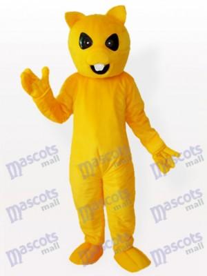 Costume d'animal de mascotte de renard jaune et blanc