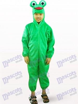 Déguisement de grenouille vert visage ouvert Kids Mascot