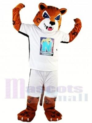 École secondaire Tigre énergétique Costume de mascotte