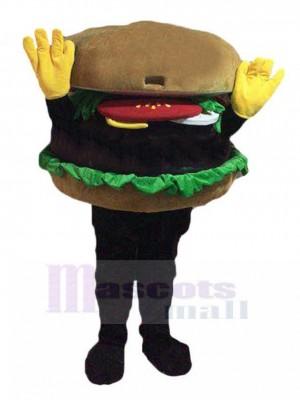 Hamburger Hands Up Costume de mascotte