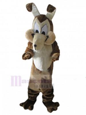 Costume de mascotte de chien loup hilarant avec de longues oreilles animal