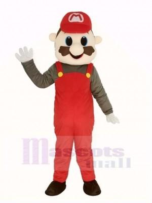 Super rouge Mario Mascotte Costume Dessin animé