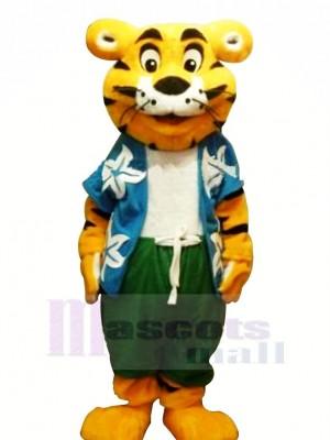 Cool tigre avec T-shirt Mascotte Les costumes Dessin animé