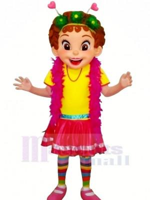 Nancy avec Coloré vêtements Mascotte Les costumes Personnes