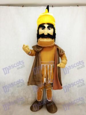 Costume de mascotte de Trojan Warrior avec une cape