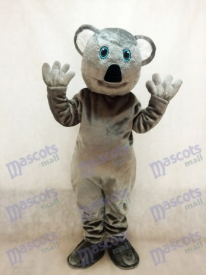 Costume mascotte mignonne de koala ours gris