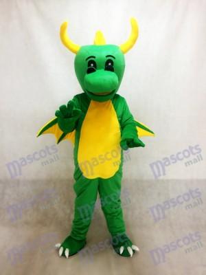 Costume de mascotte de dinosaure vert Dragon
