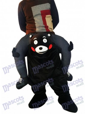Piggyback Kumamon Carry Me monter sur Costume mascotte ours noir