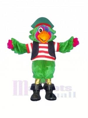Mode vert Perroquet Mascotte Les costumes Dessin animé