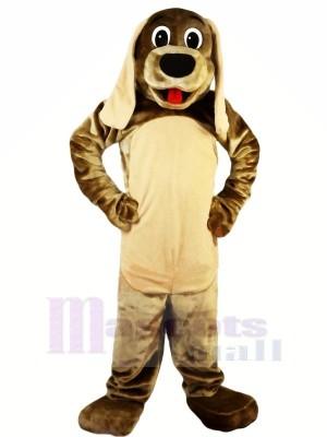 Mignonne marron Chien avec Longue Oreilles Mascotte Les costumes Animal