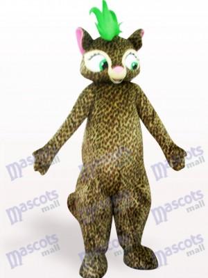 Costume de belle mascotte léopard adulte
