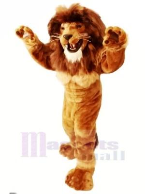 Amical Puissance Lion Mascotte Les costumes Adulte