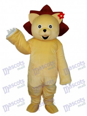 Mascotte Lion d'Or Costume Adulte Animal
