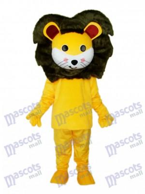 Costume de mascotte petit lion jaune Animal