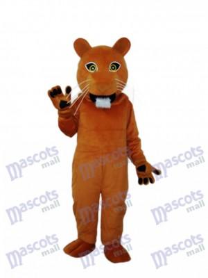 Déguisement de mascotte Golden Cougar adulte