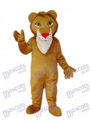 Déguisement de mascotte lion jaune Animal