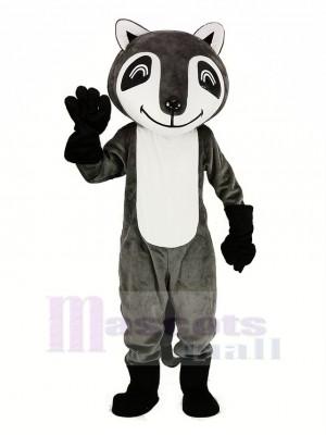 gris Raton laveur Mascotte Costume Animal