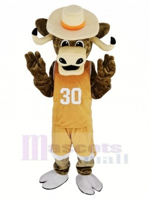 Texas Longhorns sport Taureau avec marron Manteau Mascotte Costume Animal