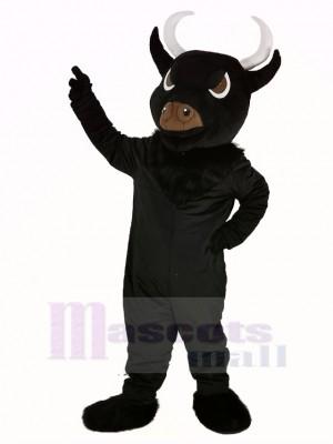 Noir Taureau Mascotte Costume Adulte