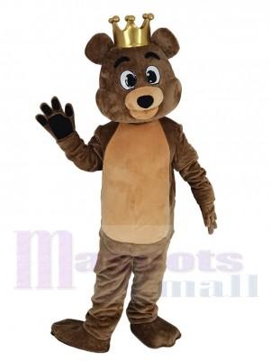 marron Roi Billy Bob Ours Costume de mascotte
