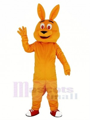 Orange Kangourou Mascotte Costume Dessin animé