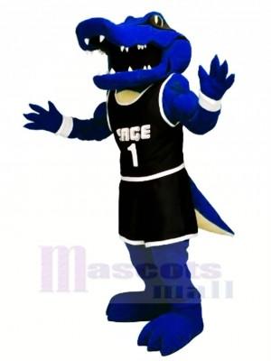 sport Bleu Alligator Mascotte Déguisements Dessin animé