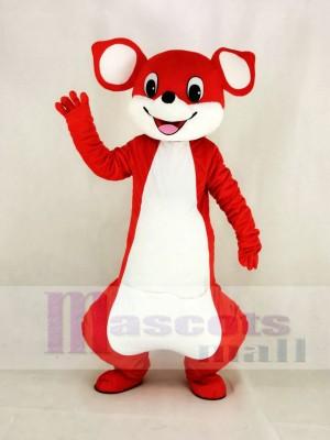Mignonne rouge Kangourou Mascotte Costume Dessin animé