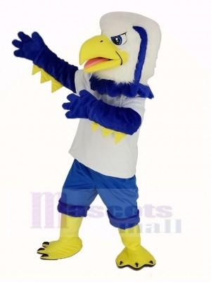 Cool Bleu Aigle Mascotte Costume Animal