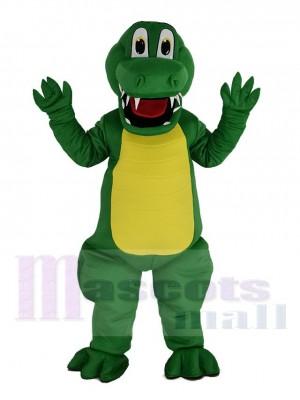 Komisch Grün Alligator Maskottchen Kostüm Tier