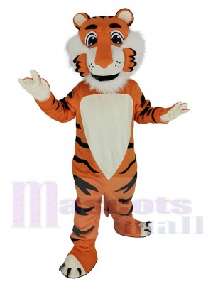 Amical Orange tigre Costume de mascotte Animal