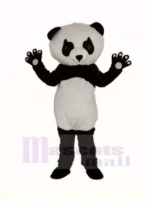 Panda avec Longue Cils Mascotte Costume